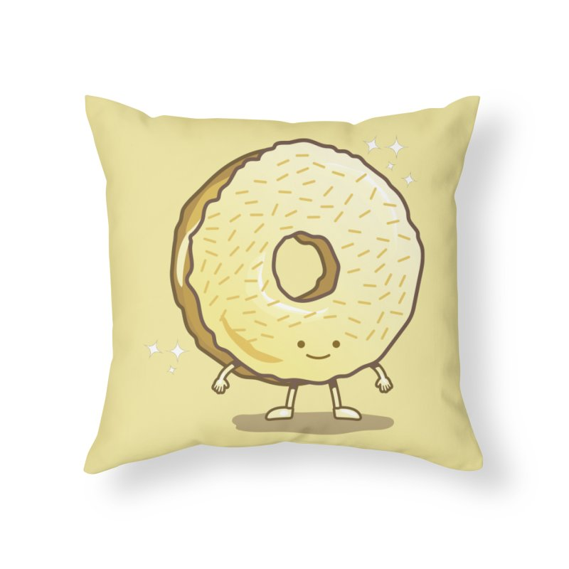 The Golden Donut Home Throw Pillow by nickv47