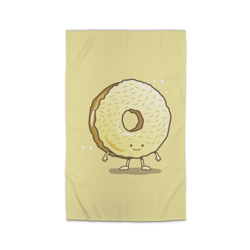 The Golden Donut Home Rug by nickv47