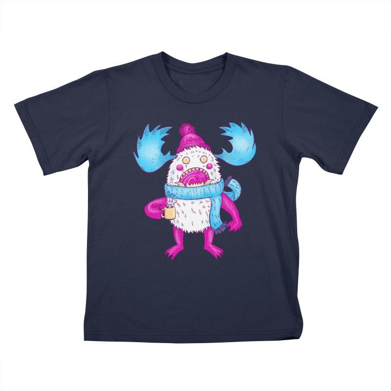 Mr Caffeine Kids T-Shirt by nickv47