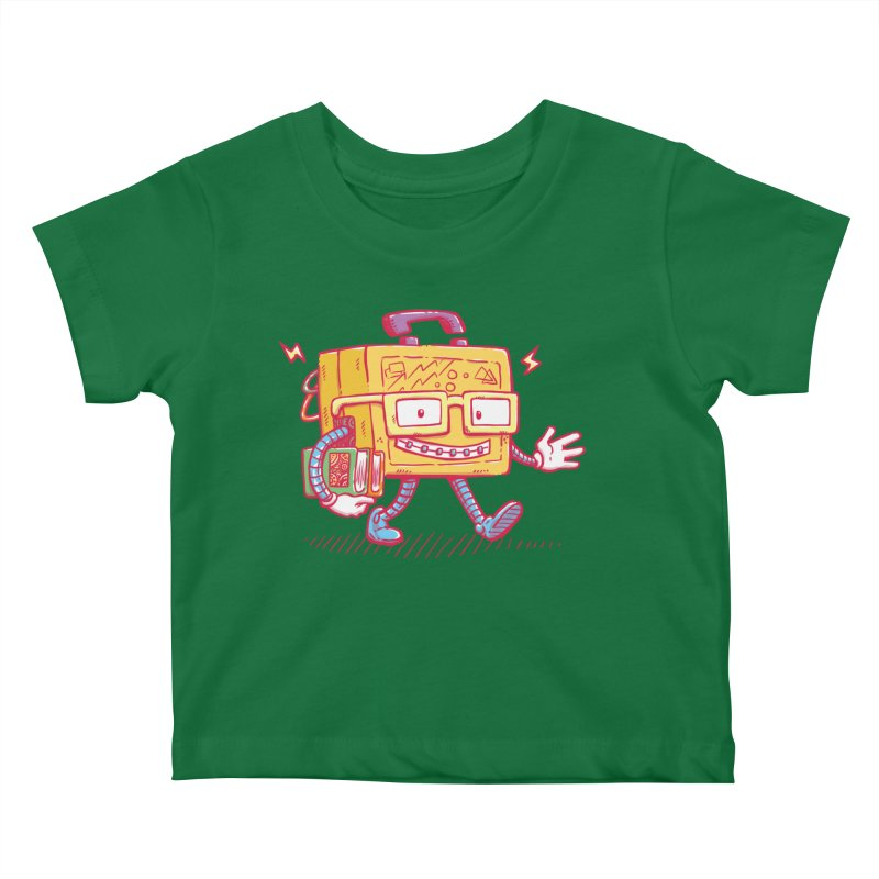 Lunch Pail Bot Kids Baby T-Shirt by nickv47