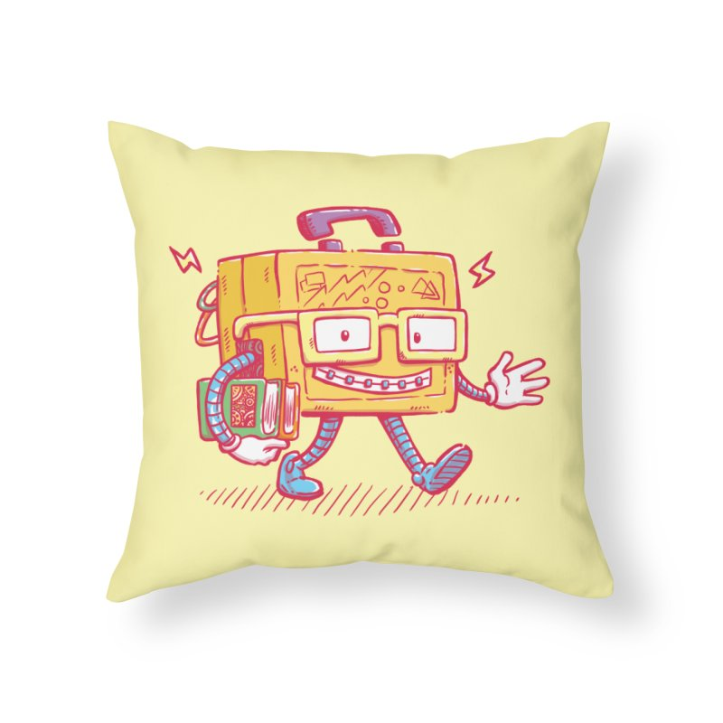 Lunch Pail Bot Home Throw Pillow by nickv47