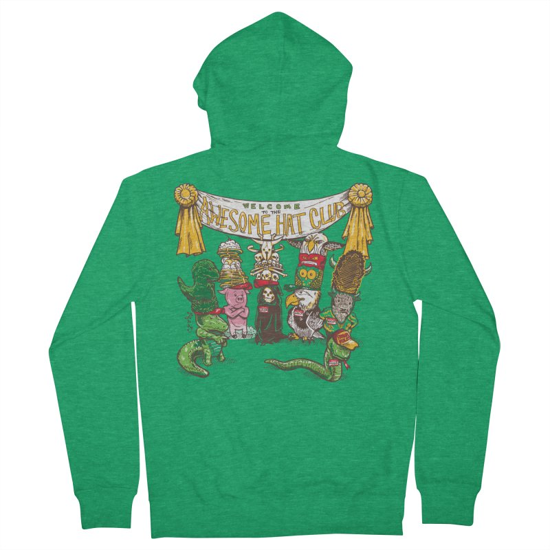 Awesome Hat Club Men's Zip-Up Hoody by nickv47