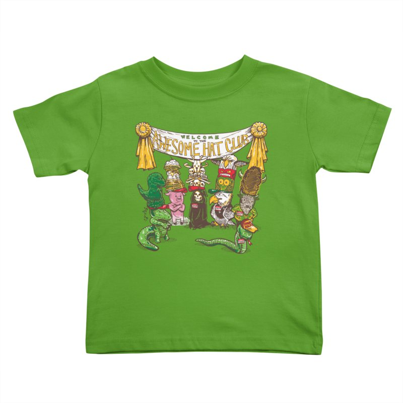 Awesome Hat Club Kids Toddler T-Shirt by nickv47