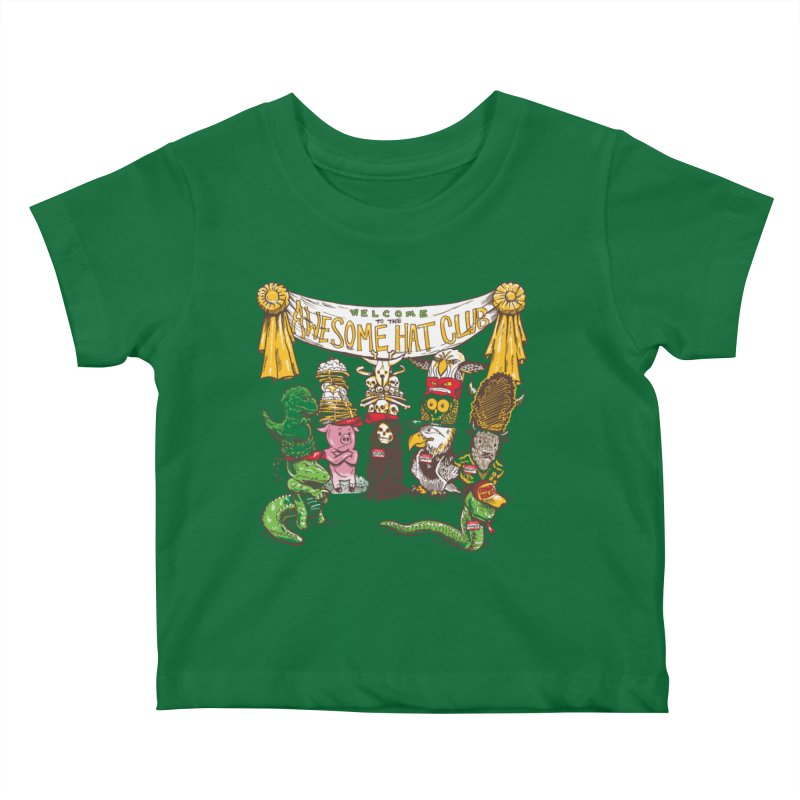 Awesome Hat Club Kids Baby T-Shirt by nickv47