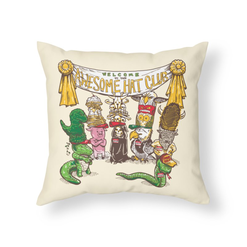 Awesome Hat Club Home Throw Pillow by nickv47