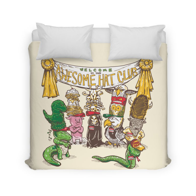 Awesome Hat Club Home Duvet by nickv47