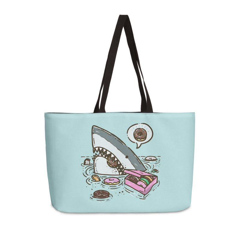 Box of Donuts Shark Accessories Bag by nickv47