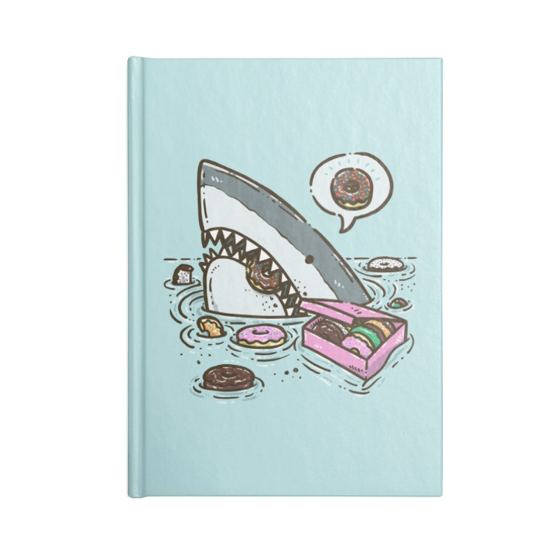 Box of Donuts Shark Accessories Notebook by nickv47