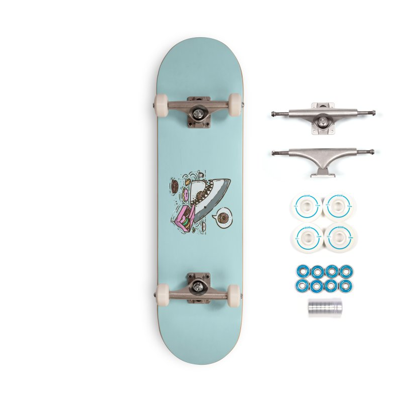 Box of Donuts Shark Accessories Skateboard by nickv47