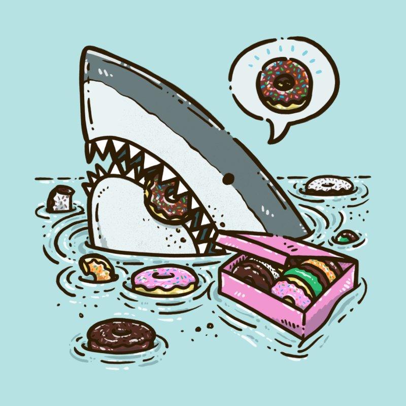 Box of Donuts Shark Men's Zip-Up Hoody by nickv47