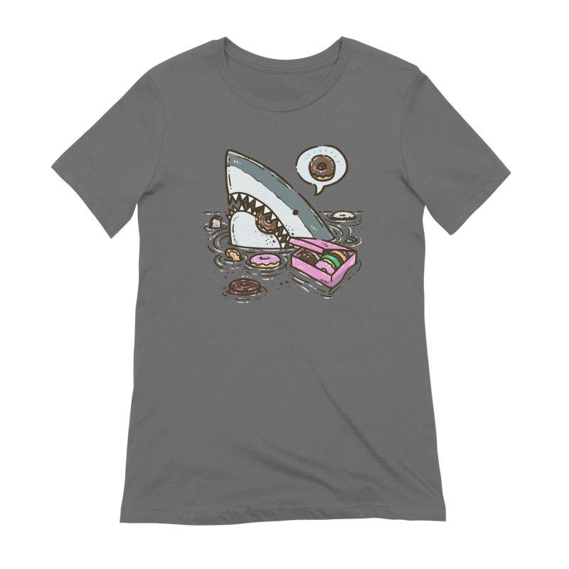 Box of Donuts Shark Women's T-Shirt by nickv47