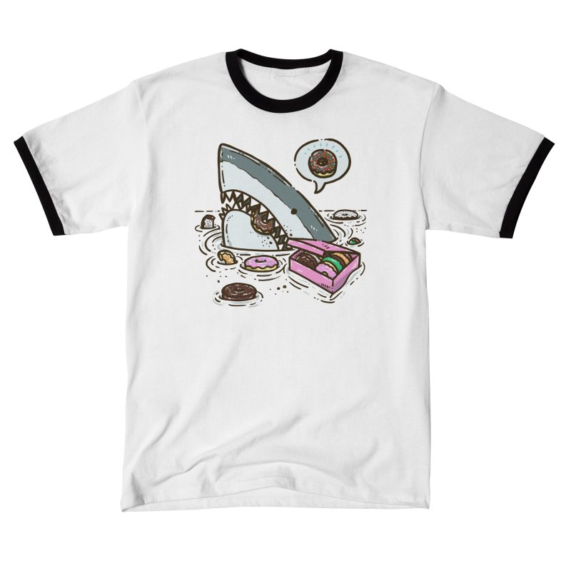 Box of Donuts Shark Men's T-Shirt by nickv47