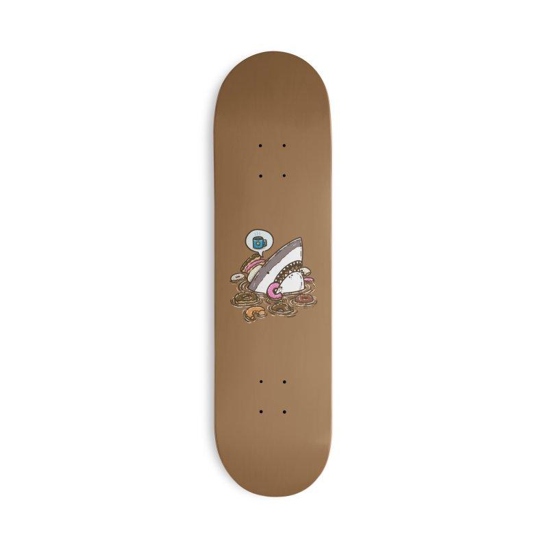 Donut Shark Accessories Skateboard by nickv47