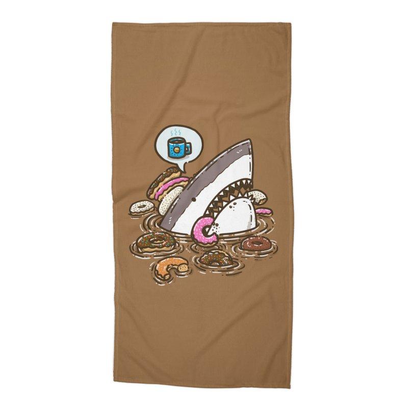 Donut Shark Accessories Beach Towel by nickv47