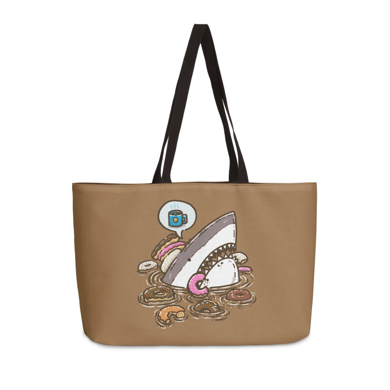 Donut Shark Accessories Bag by nickv47