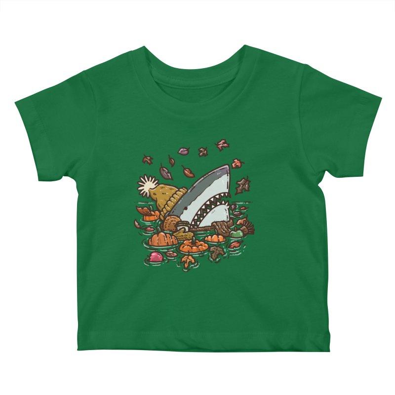 Fall Shark Kids Baby T-Shirt by nickv47