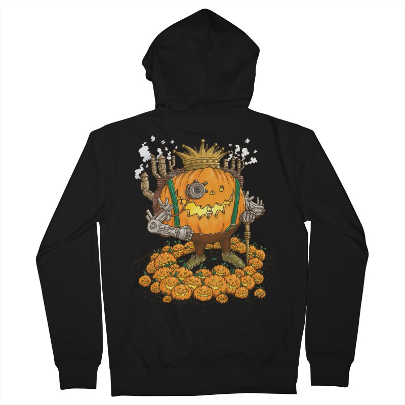 The Steampunk Pumpking Men's Zip-Up Hoody by nickv47