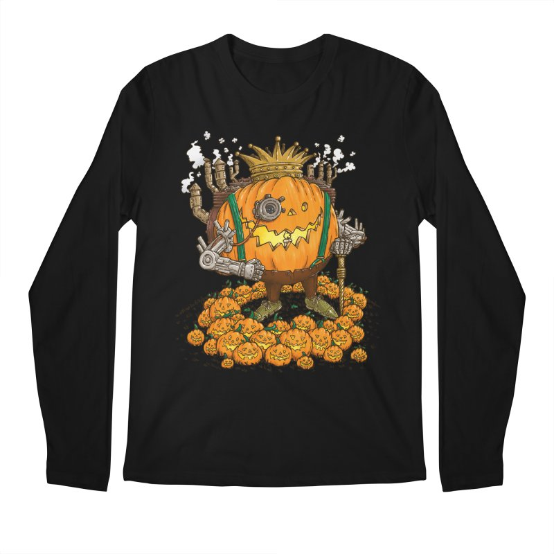 The Steampunk Pumpking Men's Longsleeve T-Shirt by nickv47