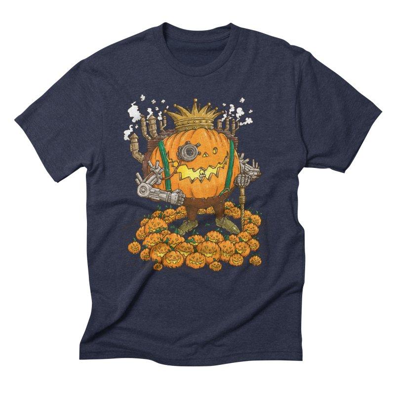 The Steampunk Pumpking Men's Triblend T-Shirt by nickv47