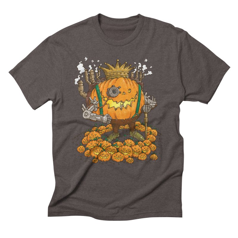 The Steampunk Pumpking Men's Triblend T-shirt by nickv47