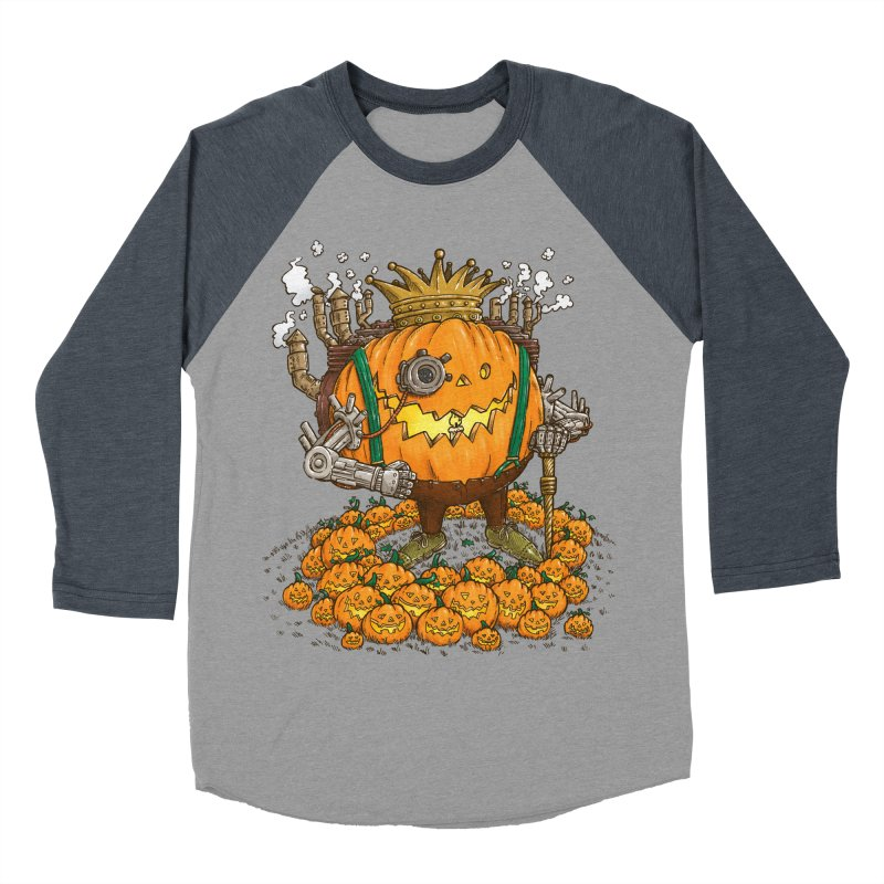 The Steampunk Pumpking Men's Baseball Triblend T-Shirt by nickv47