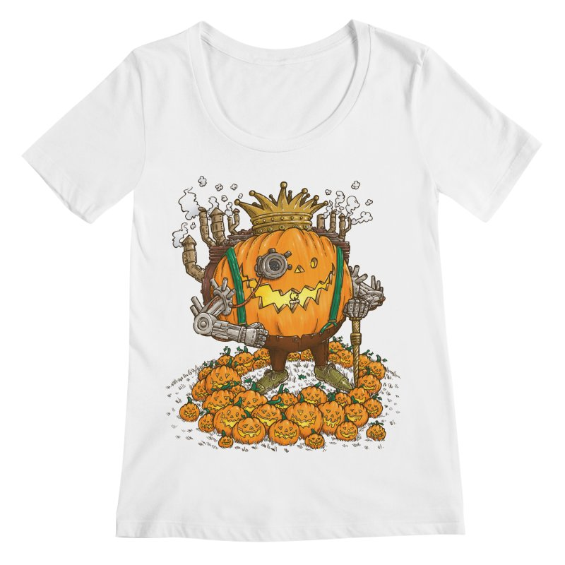 The Steampunk Pumpking Women's Scoopneck by nickv47