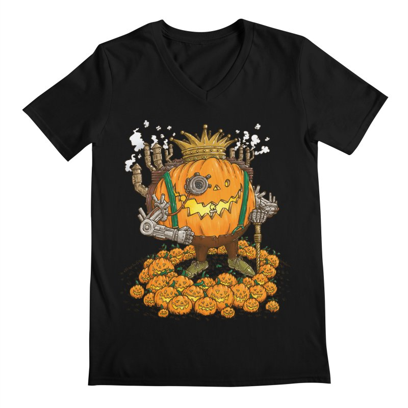 The Steampunk Pumpking Men's V-Neck by nickv47