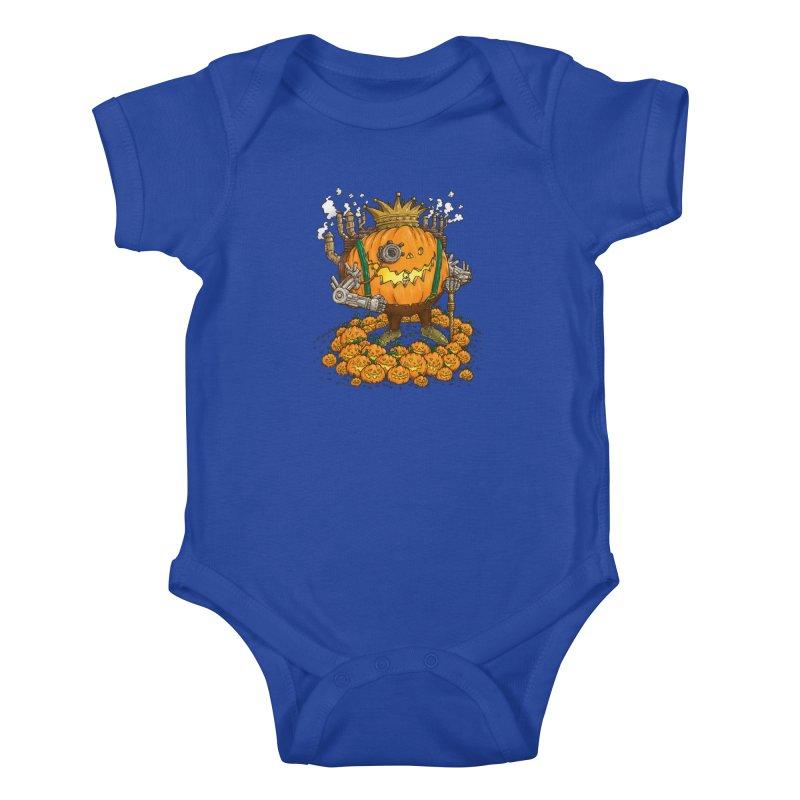 The Steampunk Pumpking Kids Baby Bodysuit by nickv47