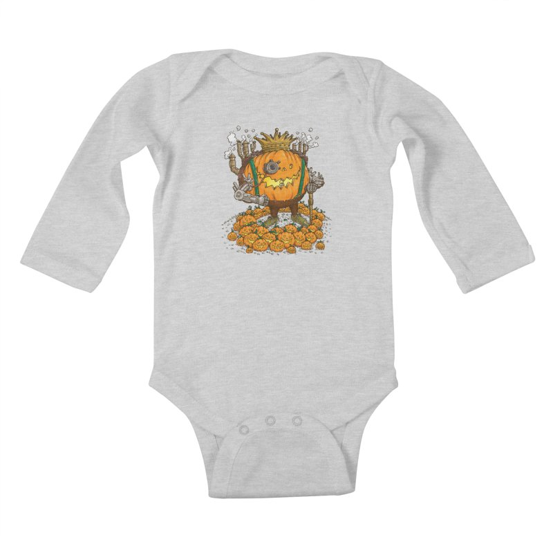 The Steampunk Pumpking Kids Baby Longsleeve Bodysuit by nickv47