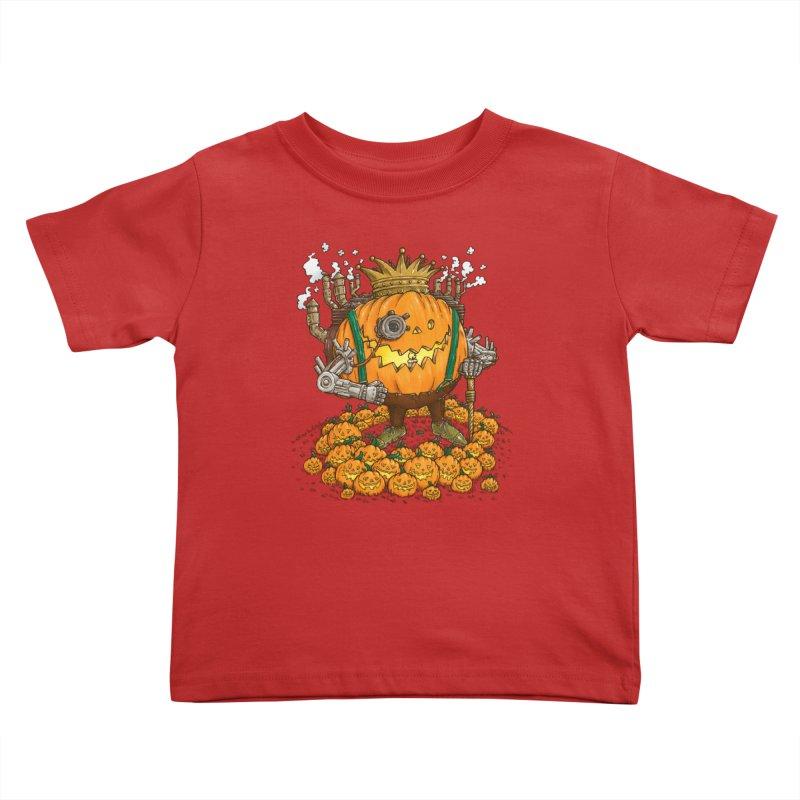 The Steampunk Pumpking Kids Toddler T-Shirt by nickv47