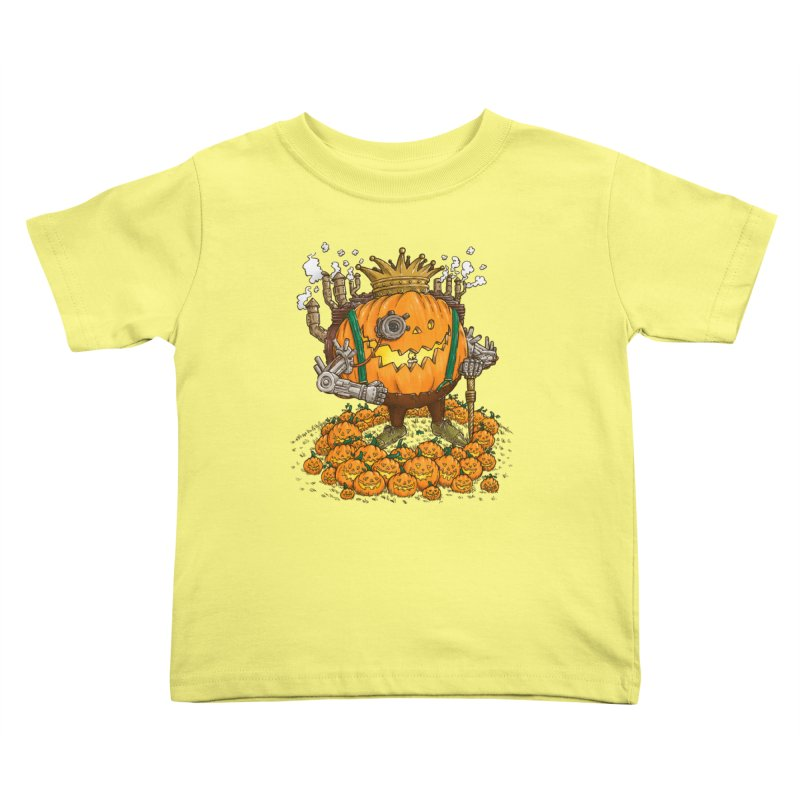 The Steampunk Pumpking Kids Toddler T-Shirt by nickv47