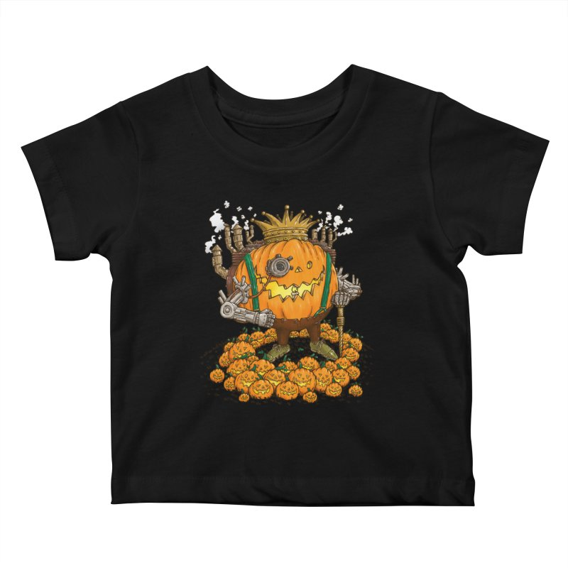 The Steampunk Pumpking Kids Baby T-Shirt by nickv47