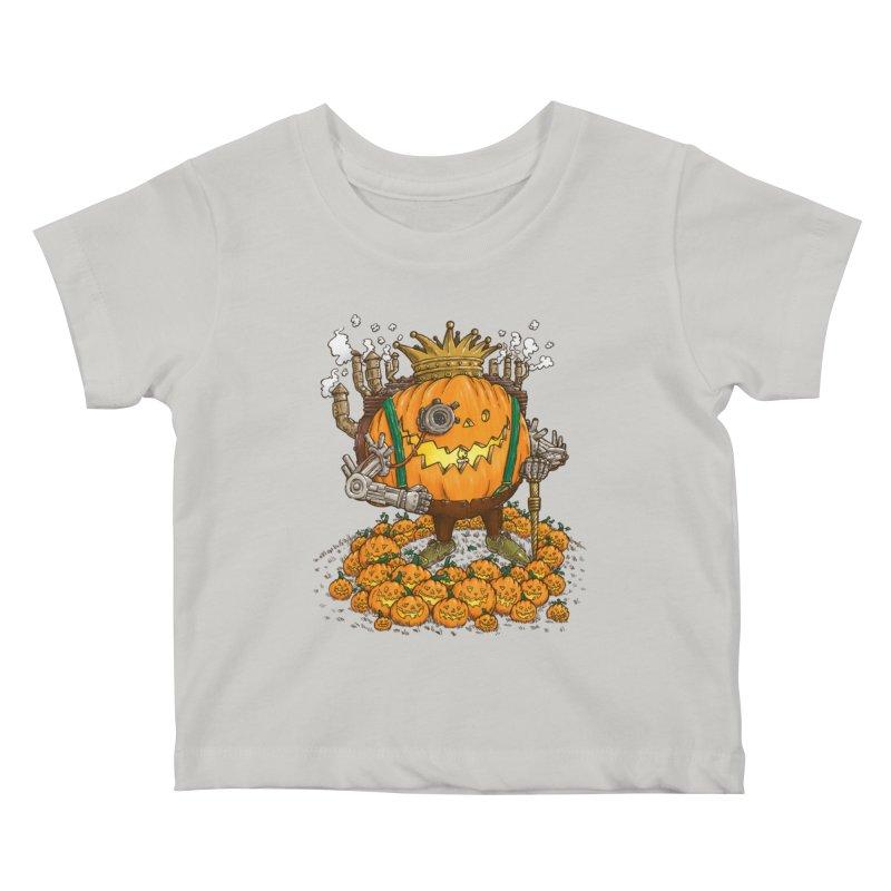 The Steampunk Pumpking Kids Baby T-Shirt by nickv47