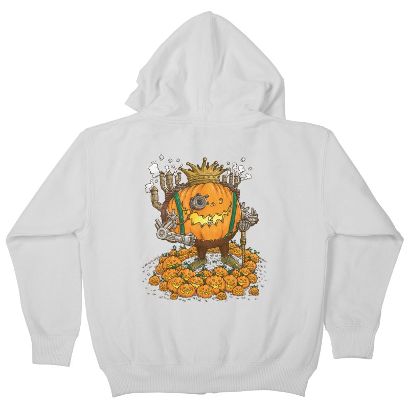 The Steampunk Pumpking Kids Zip-Up Hoody by nickv47
