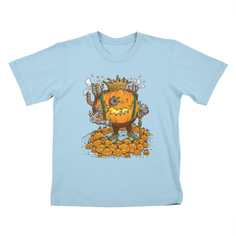 The Steampunk Pumpking Kids T-shirt by nickv47