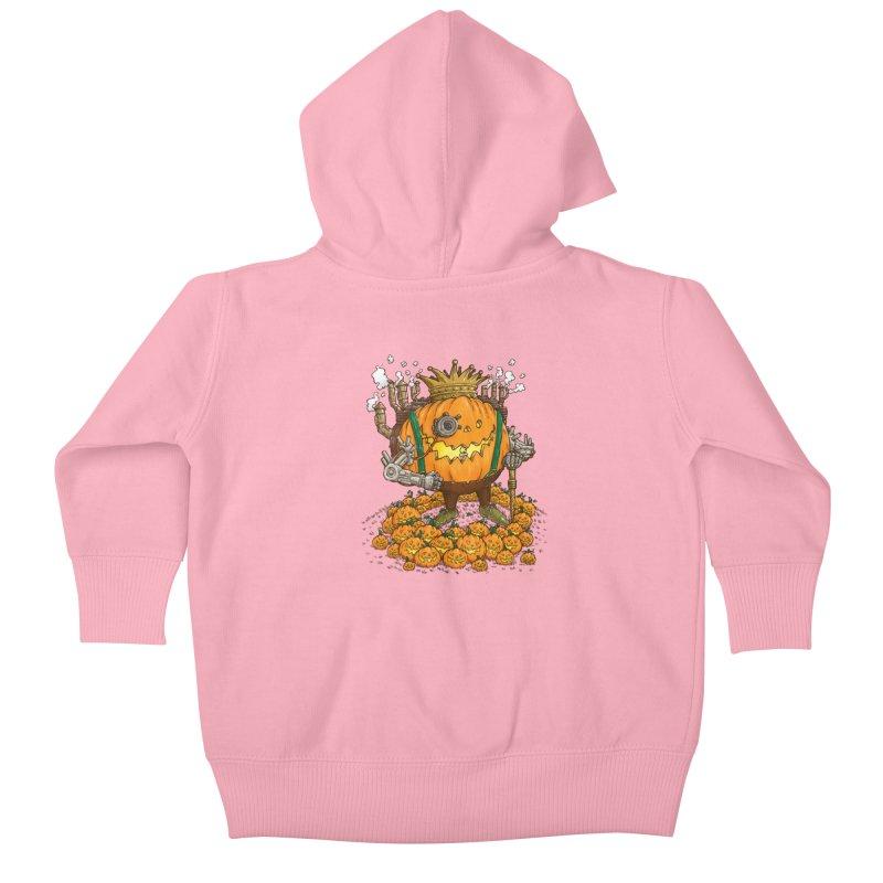 The Steampunk Pumpking Kids Baby Zip-Up Hoody by nickv47