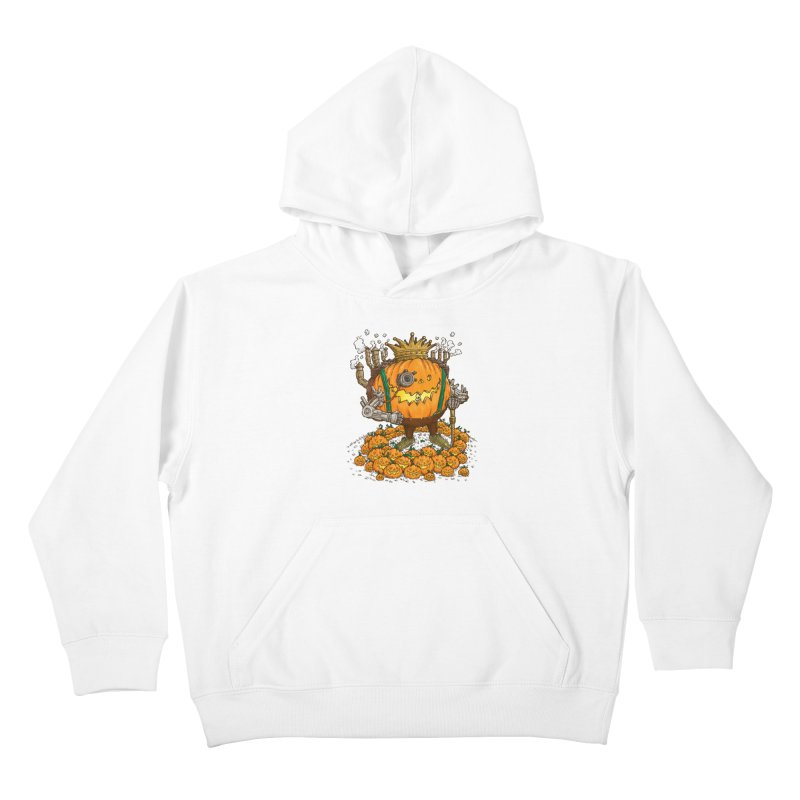 The Steampunk Pumpking Kids Pullover Hoody by nickv47