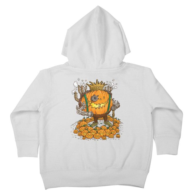 The Steampunk Pumpking Kids Toddler Zip-Up Hoody by nickv47