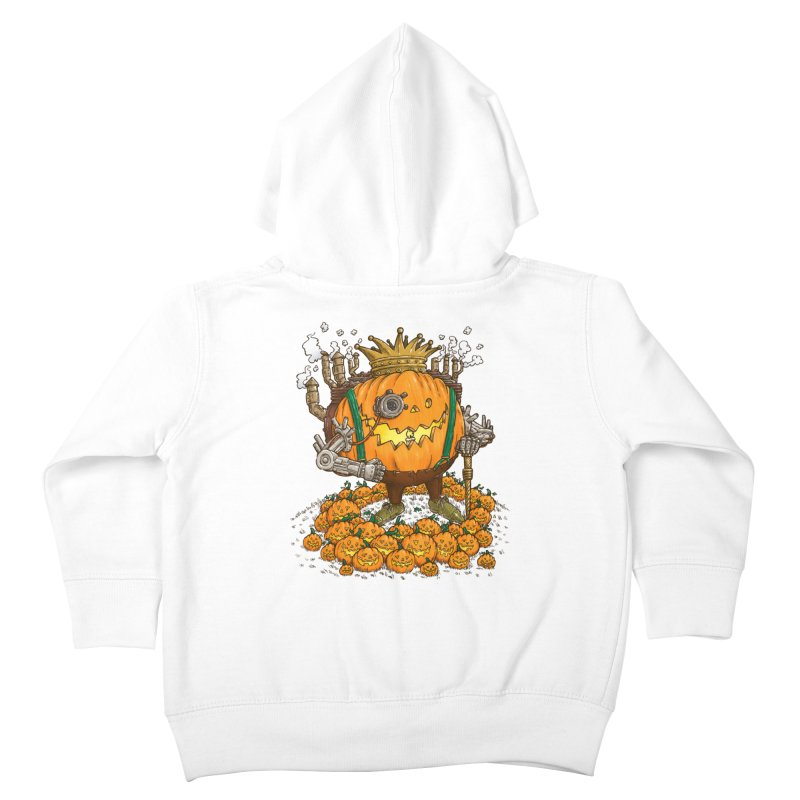 The Steampunk Pumpking Kids Toddler Zip-Up Hoody by nickv47