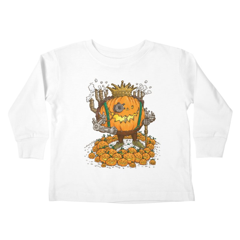 The Steampunk Pumpking Kids Toddler Longsleeve T-Shirt by nickv47