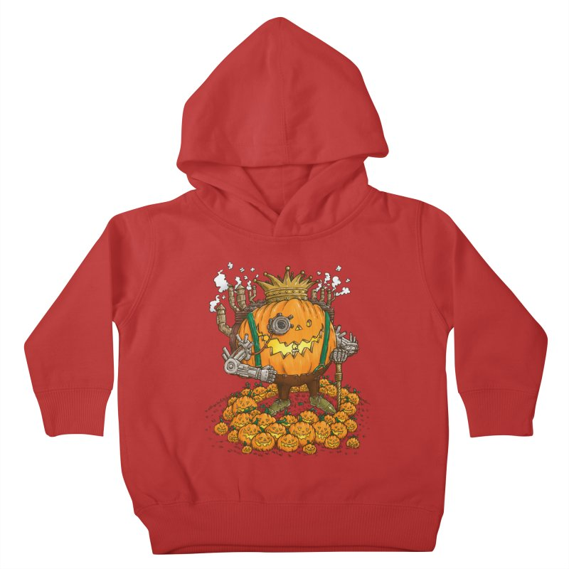 The Steampunk Pumpking Kids Toddler Pullover Hoody by nickv47