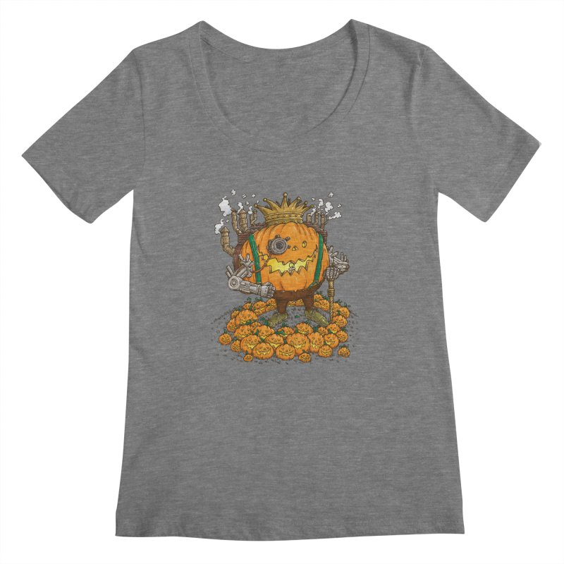 The Steampunk Pumpking Women's Scoopneck by nickv47