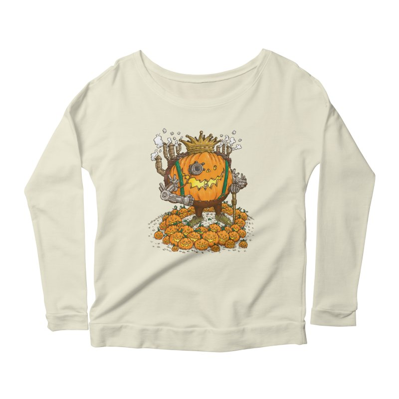 The Steampunk Pumpking Women's Longsleeve Scoopneck  by nickv47