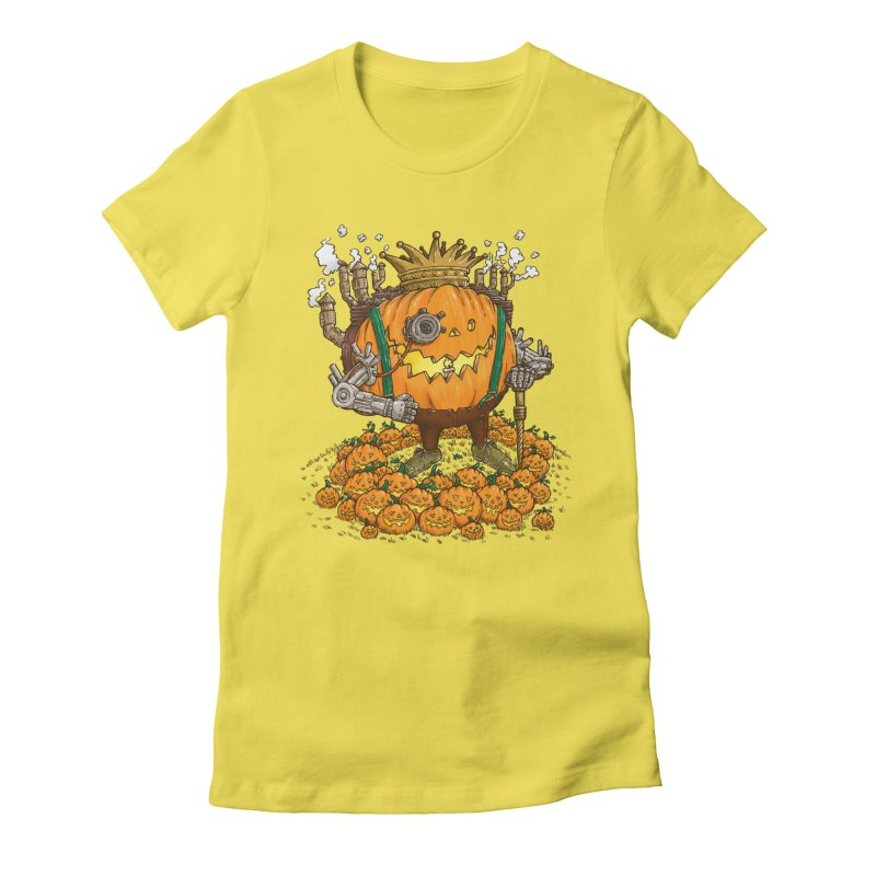 The Steampunk Pumpking Women's Fitted T-Shirt by nickv47