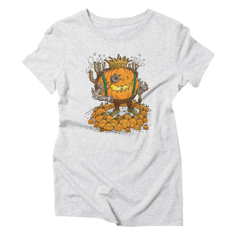 The Steampunk Pumpking Women's Triblend T-shirt by nickv47