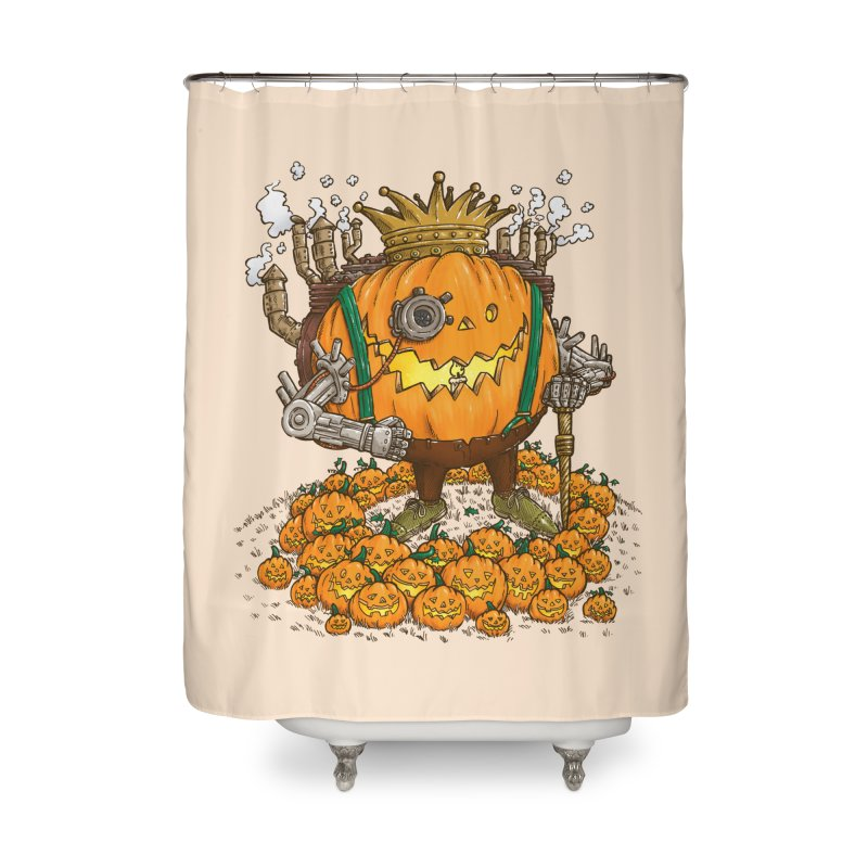The Steampunk Pumpking Home Shower Curtain by nickv47