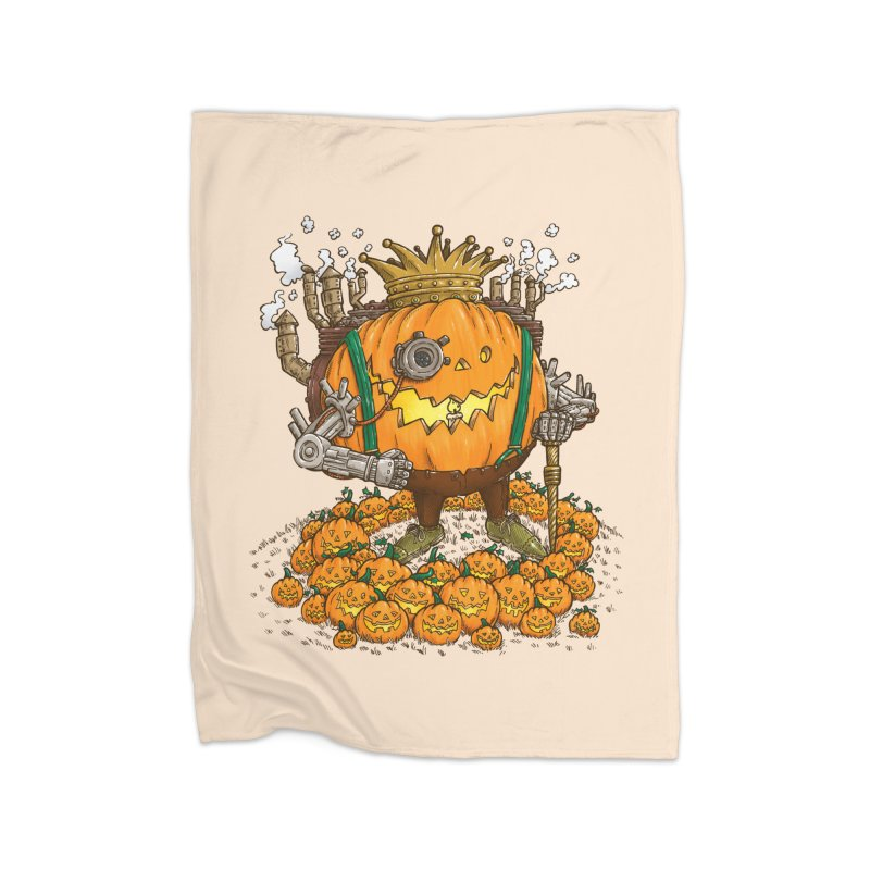 The Steampunk Pumpking Home Blanket by nickv47