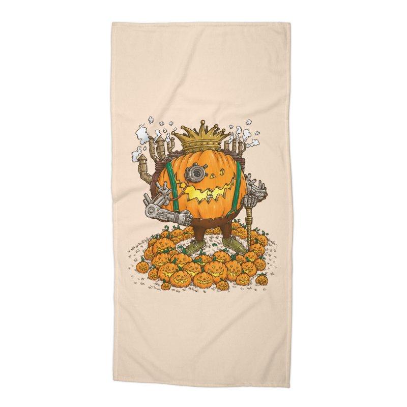 The Steampunk Pumpking Accessories Beach Towel by nickv47