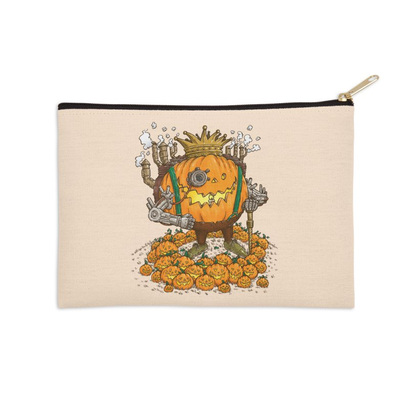 The Steampunk Pumpking Accessories Zip Pouch by nickv47