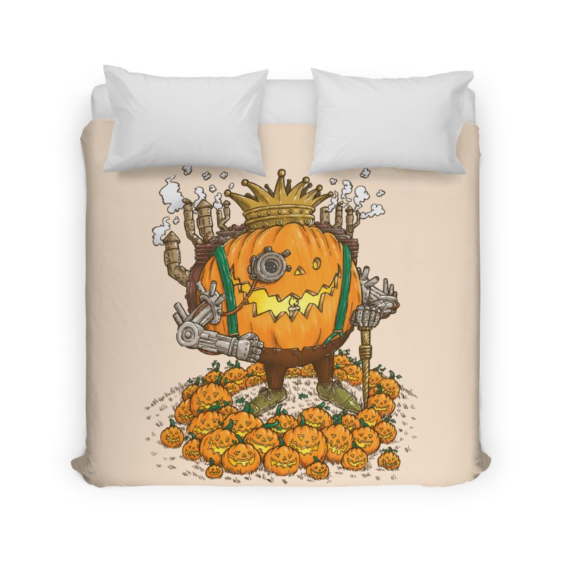 The Steampunk Pumpking Home Duvet by nickv47